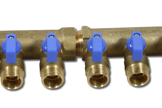 1 manifold with 2x 1/2 ball valve