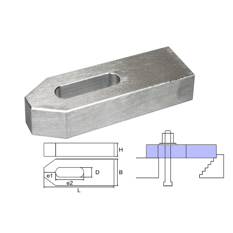 cast aluminium clamp M12/14x160x40x20