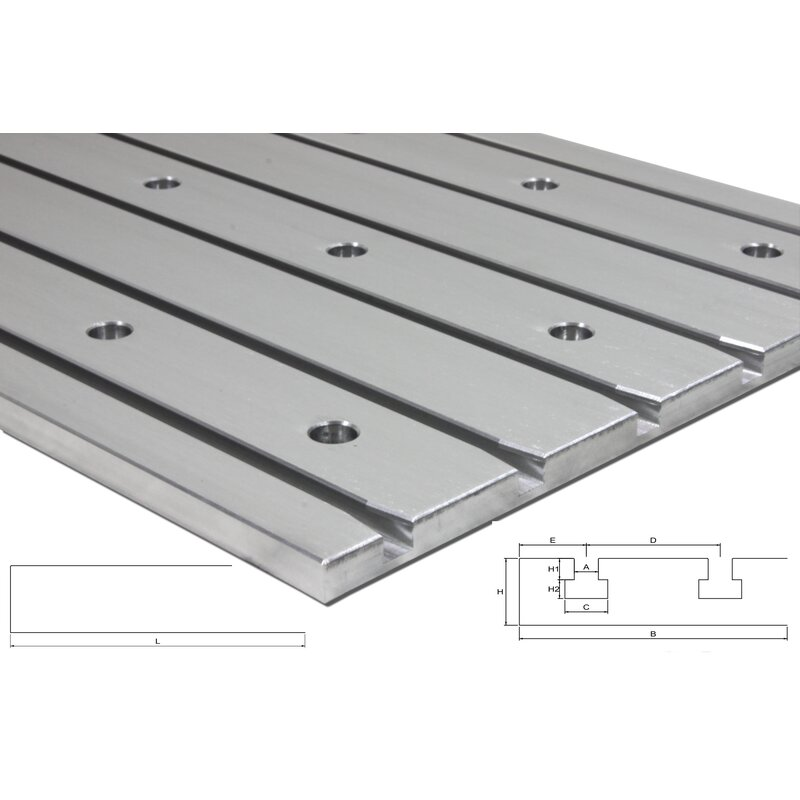 "Cast aluminum T-slot plate 10060 ""Tiny"""