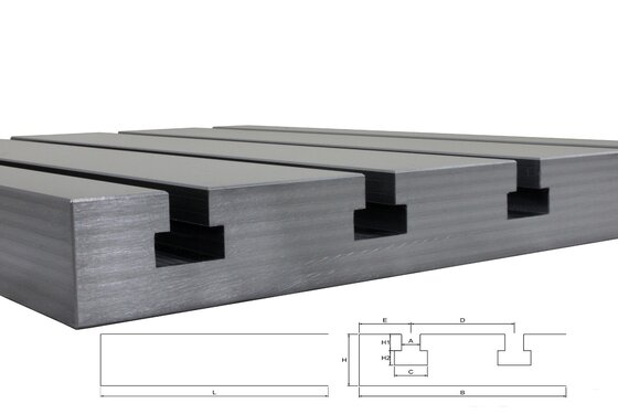 Steel T-slot plate 2020 Big Block