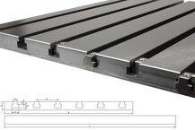 Stahl T-Nutenplatte 5040 (feingefräst)