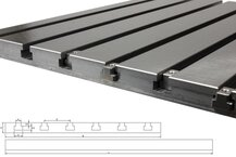Stahl T-Nutenplatte 6020 (feingefräst)