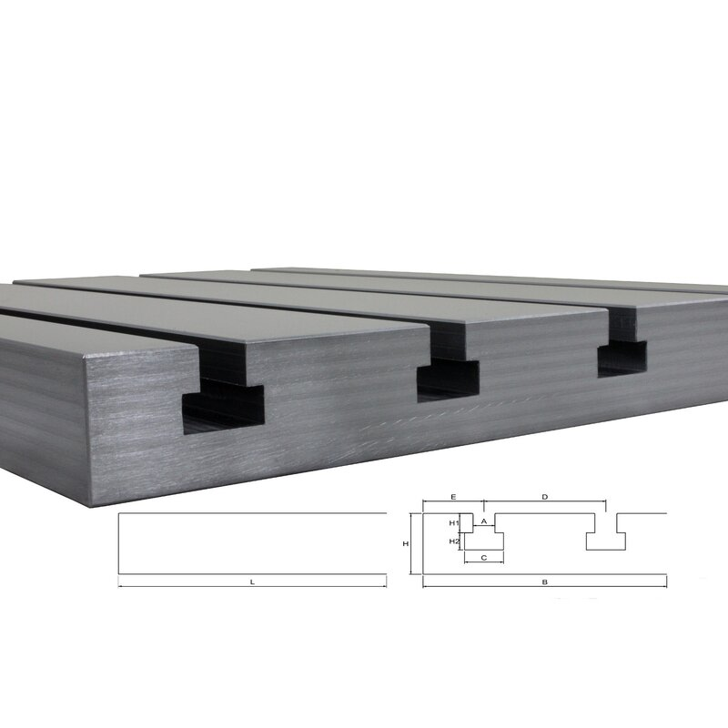 "Steel T-slot plate 8040 ""Big Block"""