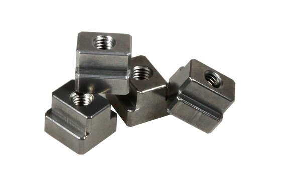 Aluminium T-slot nut with M12 thread for 14mm slots