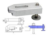Verstellbares Gussaluminium Spanneisen M16x125x50x20